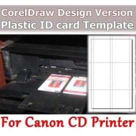 Canon Pixma IP7240 Printer plastic ID Card Template