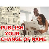 Change of name ad in Newspaper