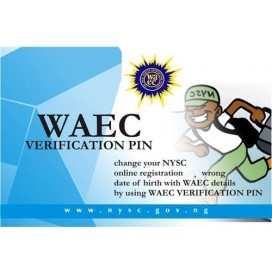 WAEC VERIFICATION PIN